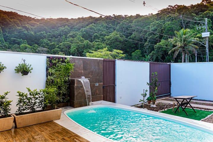 Casa Super Nova Com Piscina e Churras Massaguaçu