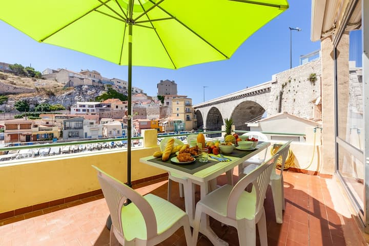 Au Vallon - Terrace on the Vallon des Auffes