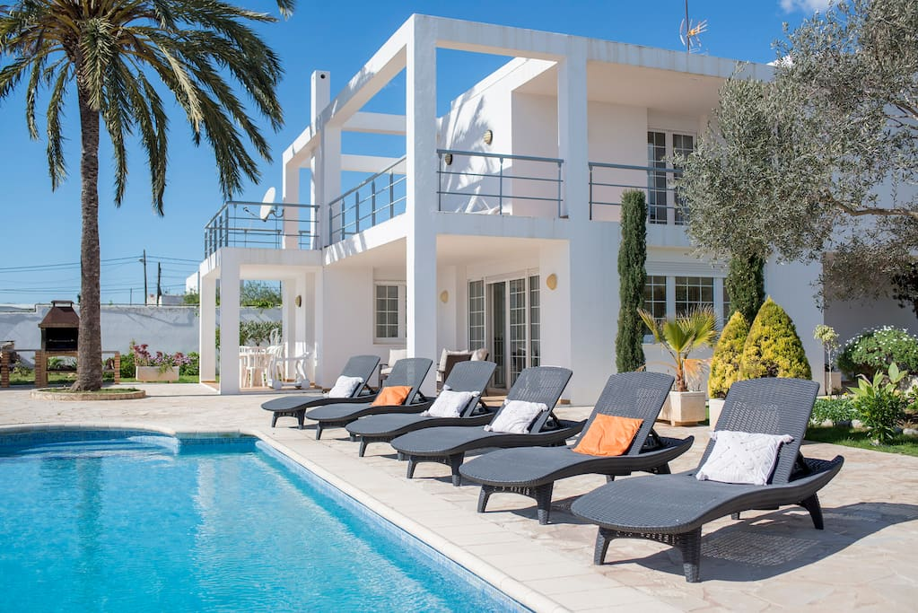 Pool, BBQ, outside dining and the large upstairs terrace overlooking the grounds