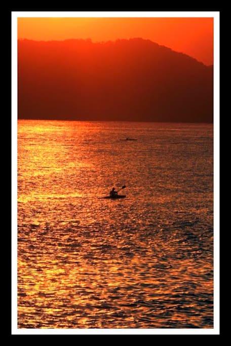 Praia do Itararé - Por do sol