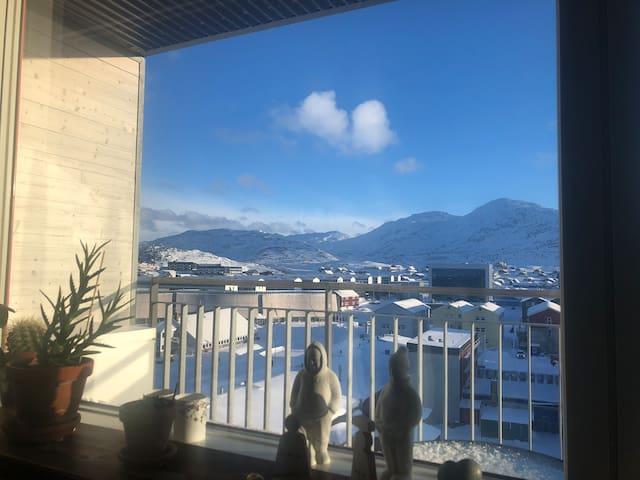 Cozy apartment with amazing view over central Nuuk