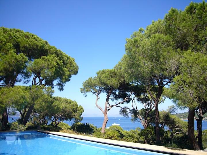 Villa, 7 chambres, mer et piscine