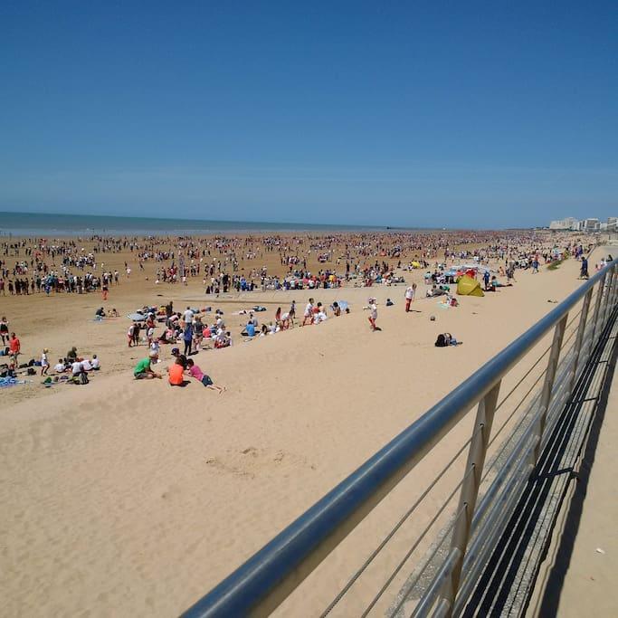 grande plage de sable fin