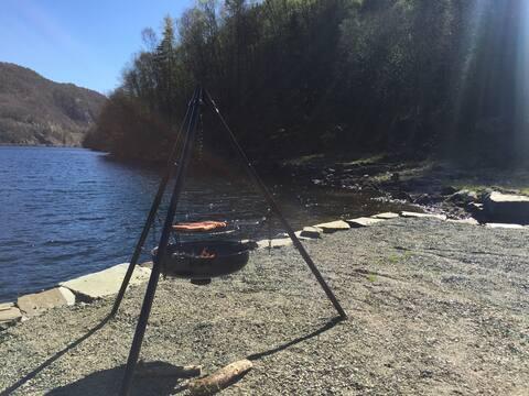 Casa de férias à beira-mar, Lavoll - Flekkefjord