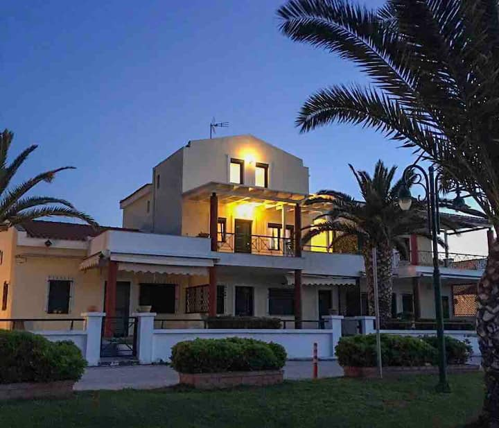 Stunning beach front private maisonette for six