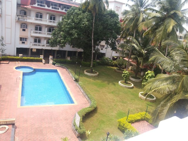 2BHK apartment in Colva .5 min walk to the beach