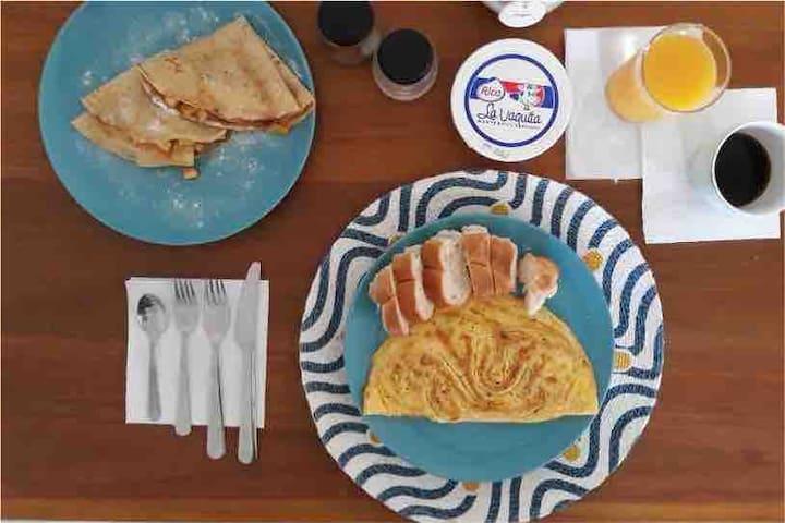 Preguntar por disponibilidad de desayuno.
