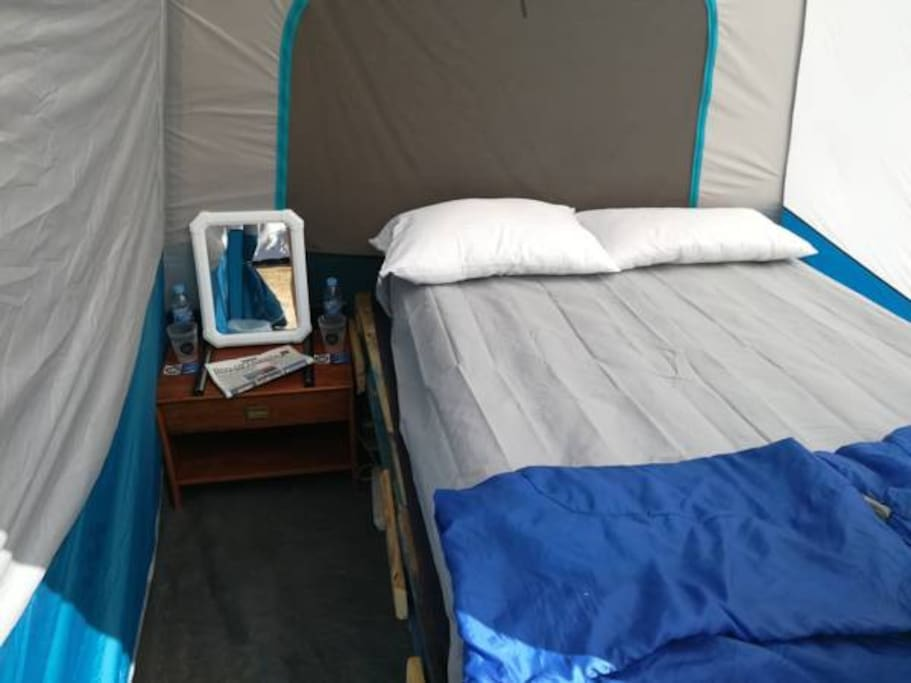 Glamping double setup