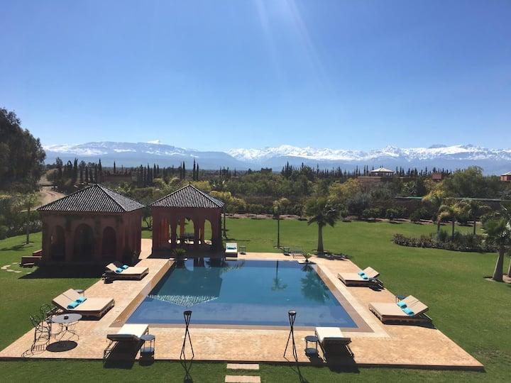 Villa de luxe, vue panoramique, Marrakech Ourika