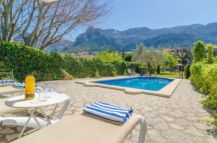 CAN GARROVA - Villa with private pool in Sóller. Free WiFi