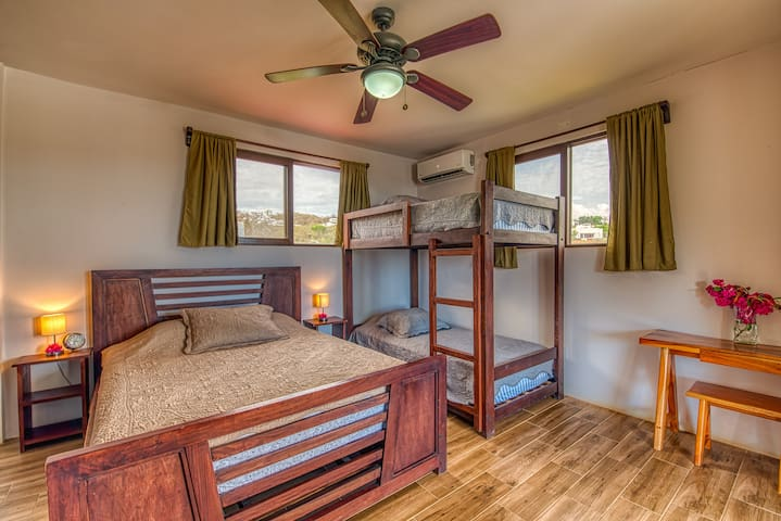 4 person Master Bedroom on upper floor in the main house of Casa Soma