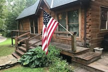 Cabin entrance and steps