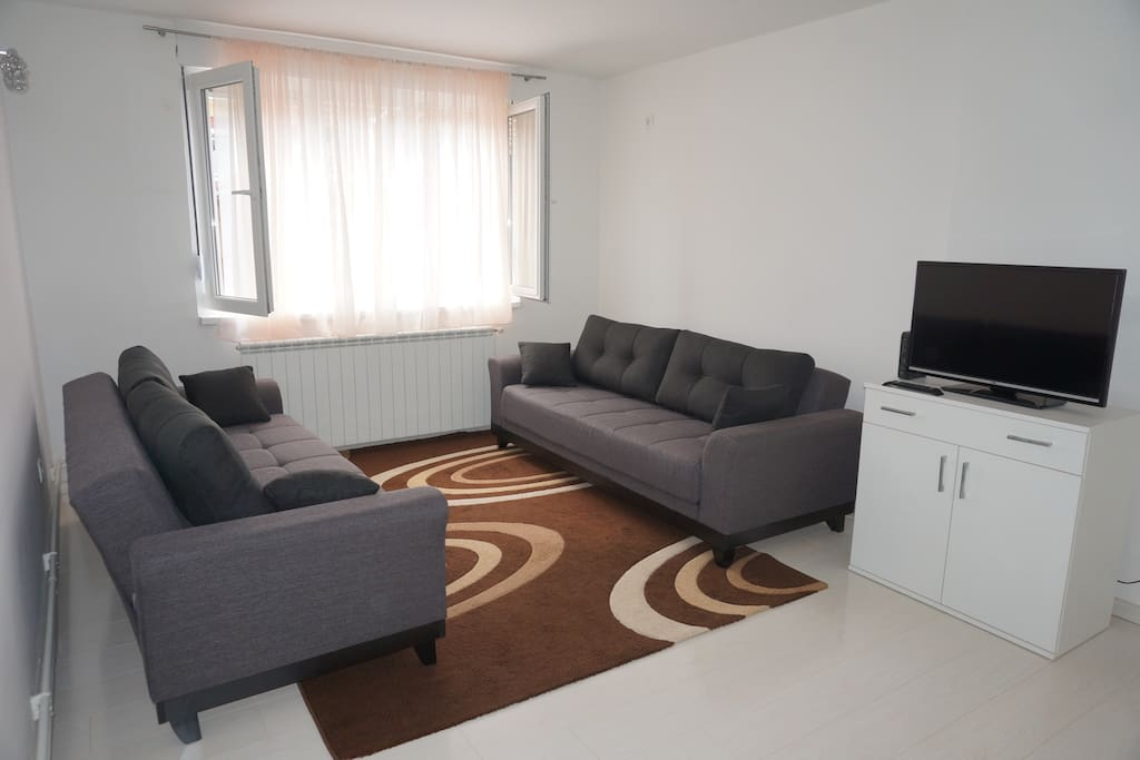 Second room - 2 sofa beds and TV