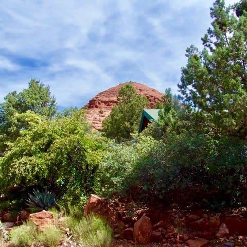 nestled at base of sugarloaf