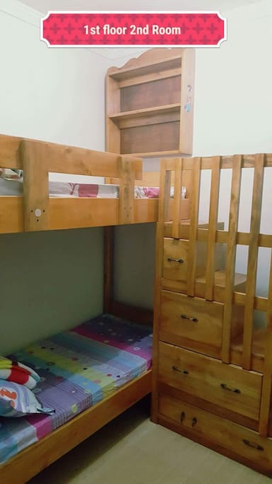 The 2nd room is designed for children's room or room for singles. This has a sliding window with screen window also.