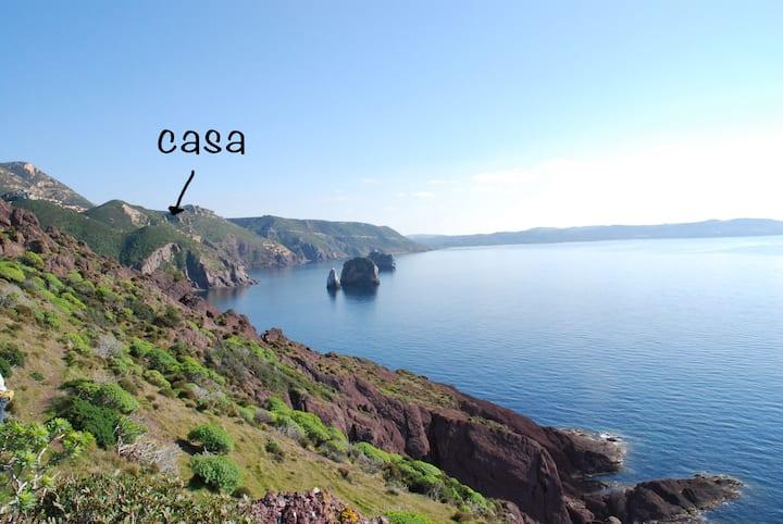 Il Blu Tanca Piras 6posti+piscina+vista mare+Wi-Fi