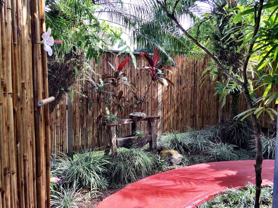 Through the Bamboo Gate and into a Beautiful, Enclosed Meditation Garden