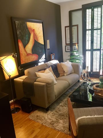 Habitación individual - Arte y tranquilidad.
