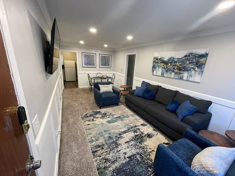 Midtown Mid- Century Modern Flat With the Blues -2