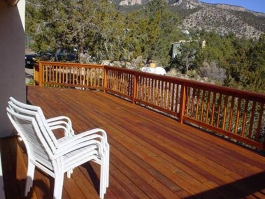 Everybody loves the giant redwood deck!