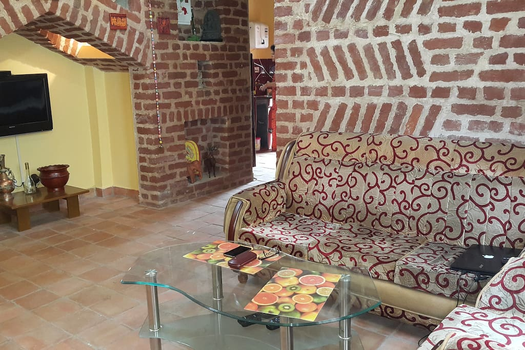 shared drawing room at ground floor (The whole Bungalow is available if number of guests exceed 4)