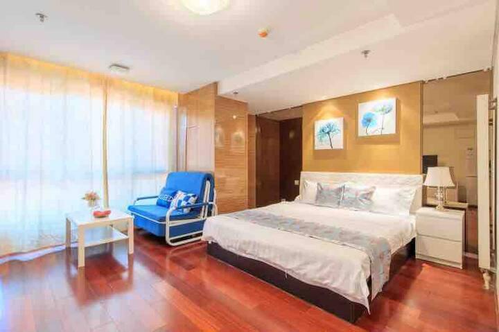 近期长租折扣/三里屯高端公寓/馨雅家庭房  Elegant Family Bed Room