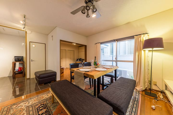 Ebisu&Hiroo Spacious house for 6 in Shibuya/w Wifi