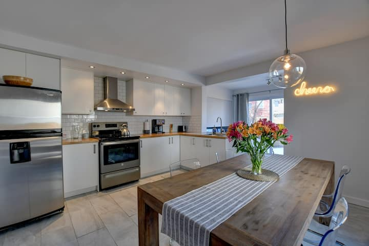 Renovated 3-bedroom lower Duplex with private yard