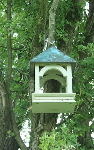 One of Granny Smiths bird feeders