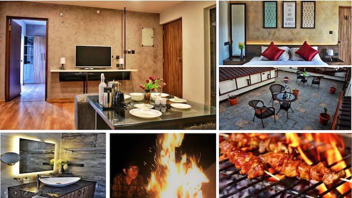 Spacious ❤️  Suite | Bonfire | BBQ | in Ooty Town