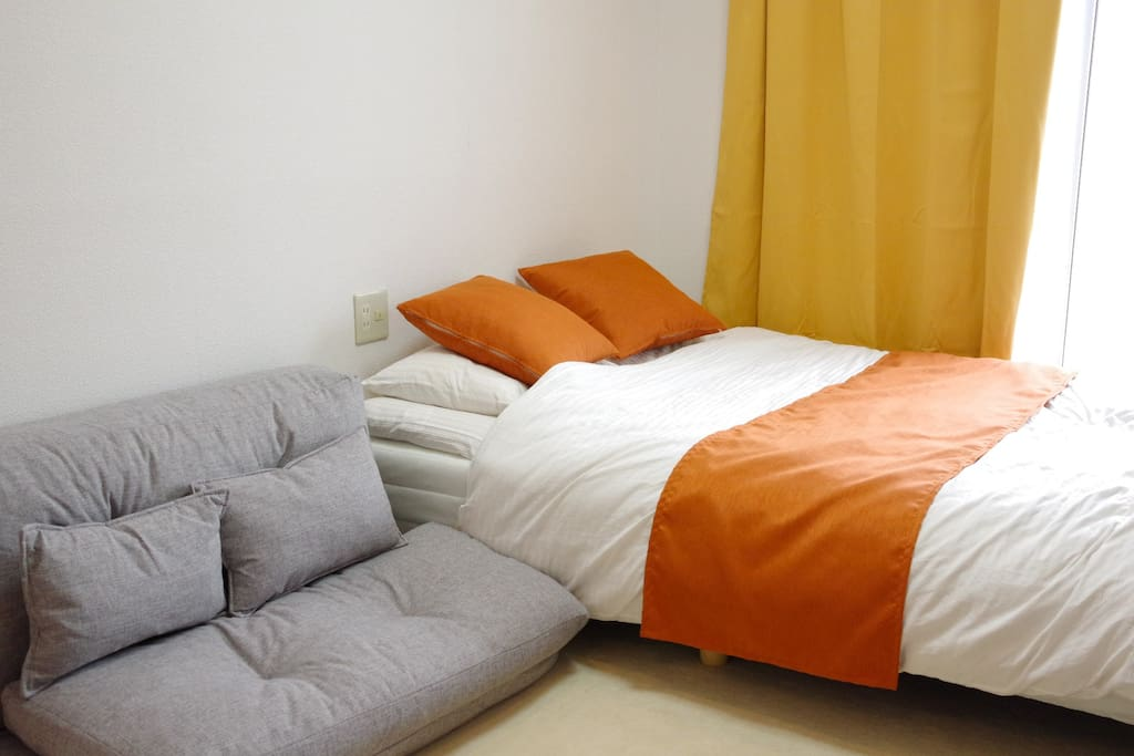 1doublebed、1sofabed