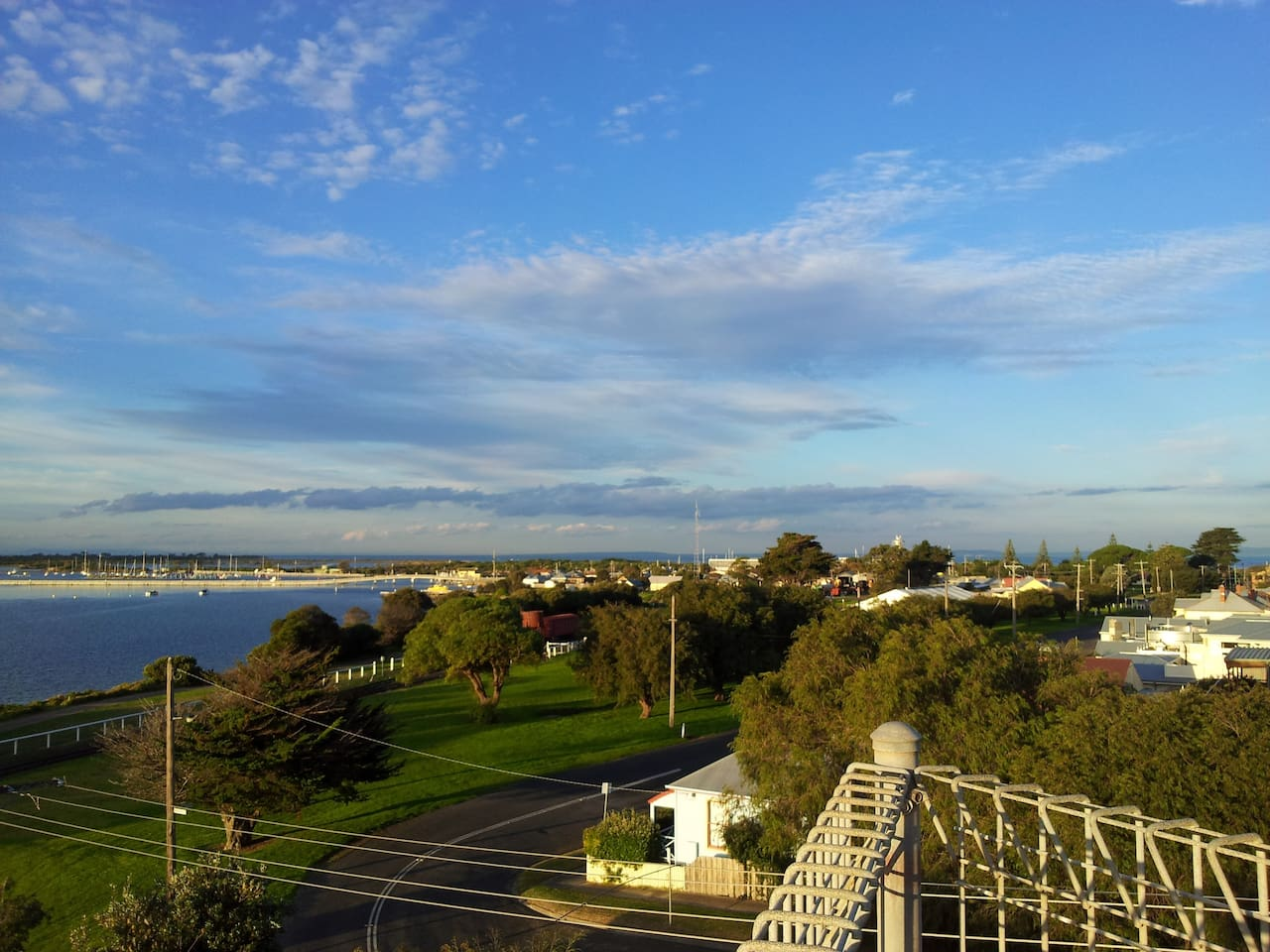 The view to the East from the point of the top deck