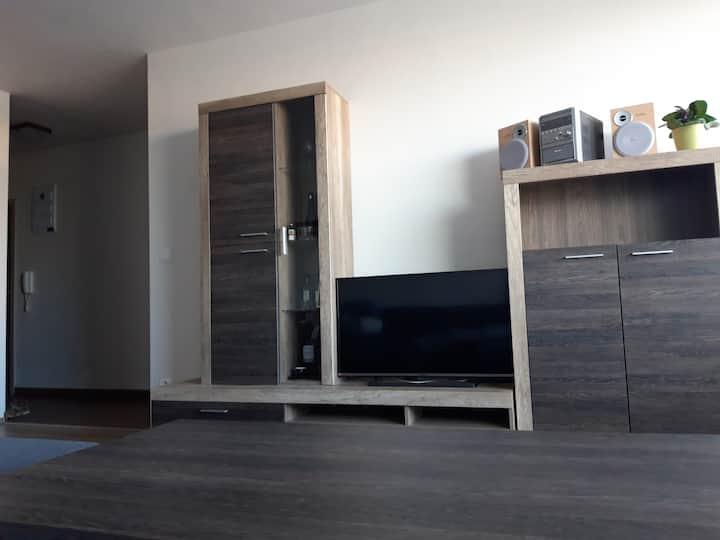 Priestranný byt v novostavbe Tono