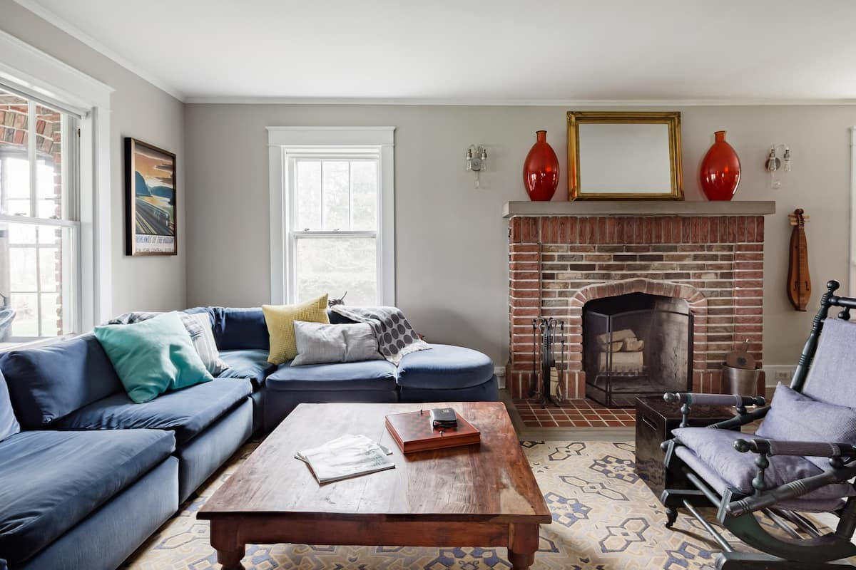 Explore the Hudson River Valley From a Refined Brick Manor