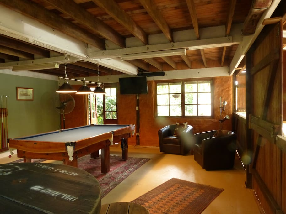 Downstairs games room