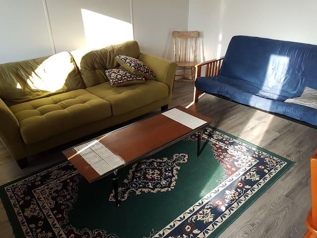 Canapé Lit convivial dans le salon T3,5