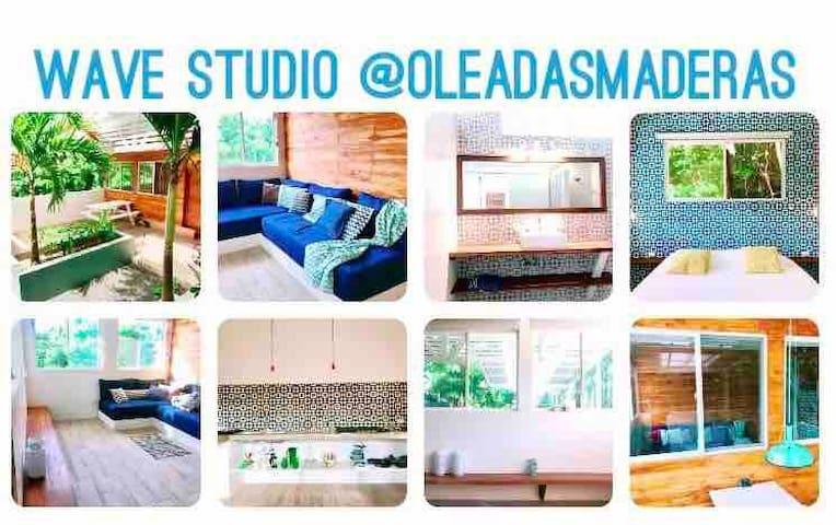 Wave studio; w/garden @Playa Maderas