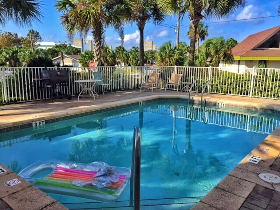 Don't feel like going to the beach...you can grill and chill at our community pool.