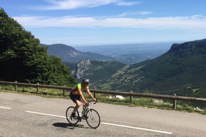 Entre Collines et Vercors ( réservé aux cyclos !)