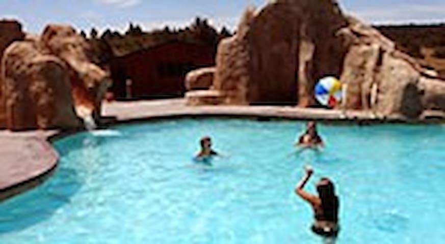 Pools and slides at Zion Ponderosa Resort