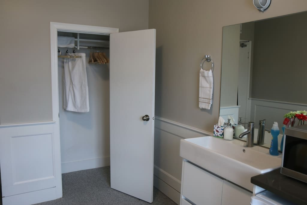 Your own sink and closet