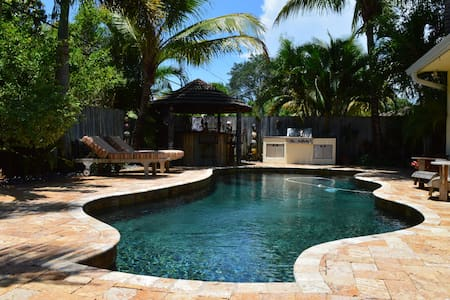 The Oasis is a 3/2 home with Pool & Hot tub