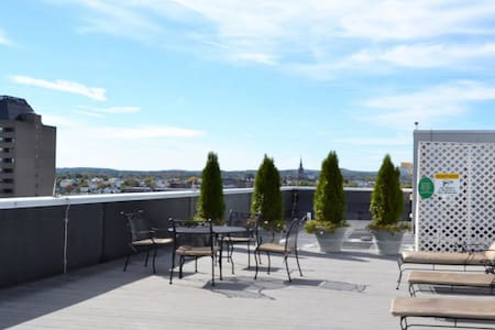City view on Roof tanning deck Downtown Manchester - Manchester - Apartment