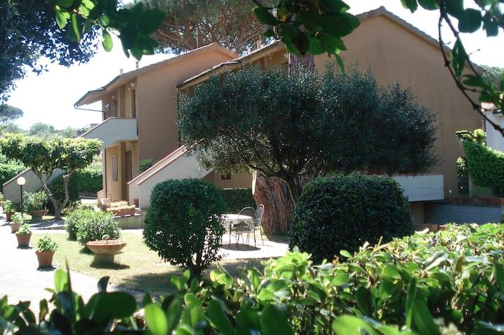 Marina Scarlino con ampio giardino ROSSO 3