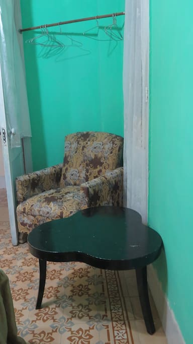 Zona para relajarse ubicado en la habitación.