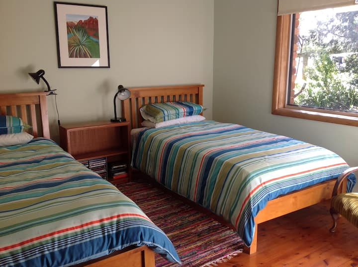Twin room in comfortable rural home