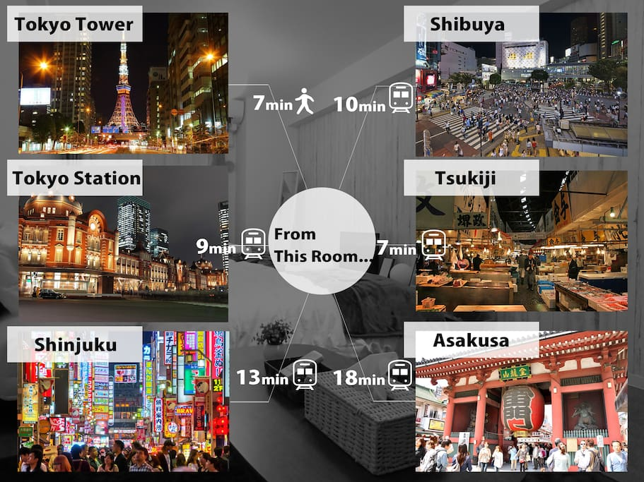 You can go anywhere in Tokyo!