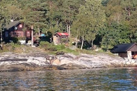 Helårs hytte/Cabin and aneks! - Molde - Blockhütte