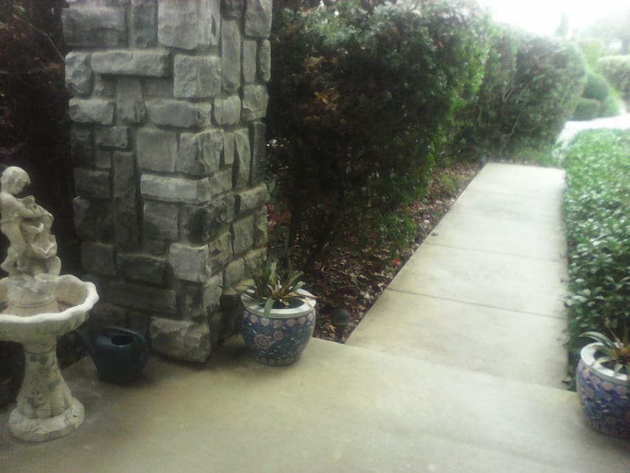 Front Walkway that leads to your relaxed time in North County