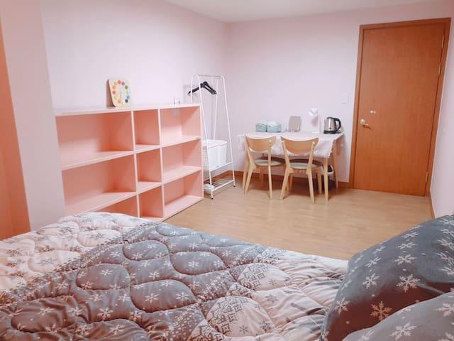 (청소비NO)핑크룸&거실/☆단독사용☆용호동LG메트로시티 '효니네'집
